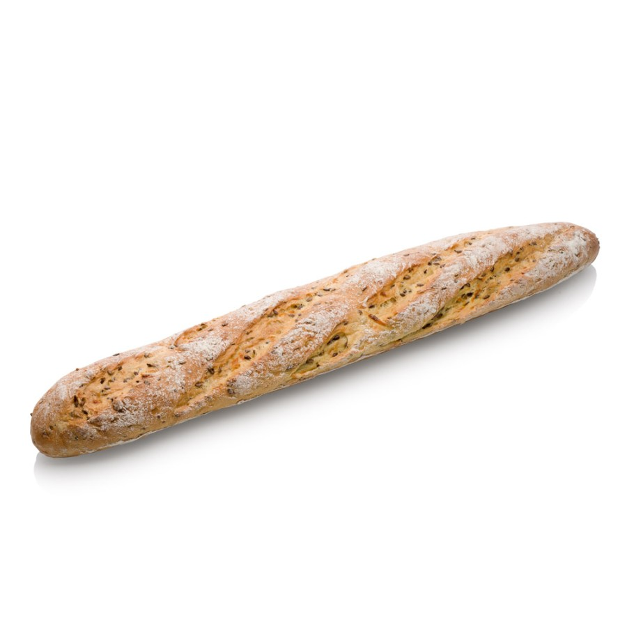 """""""Baguette"""" su linų sėmenimis ir morkomis"""